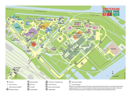 Map Amsterdam Science Park