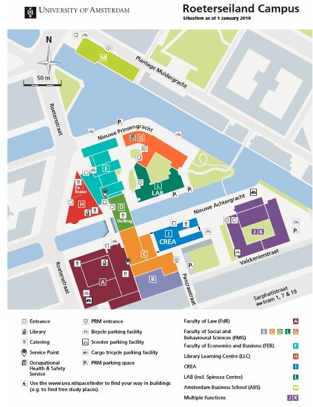 Map of Roeterseiland campus